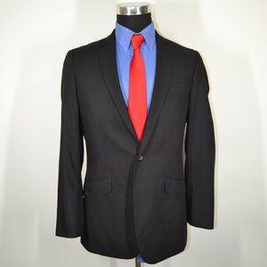 Kenneth Cole 38R Sport Coat Blazer Suit Jacket Bla